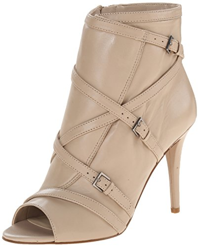 Nine West Women's Dormus Leather Boot, Light Natural, 9.5 M US