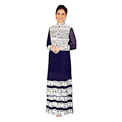 Pulp Mango Media's Exclusive Designer Festive Wear Collection Of Fine Georgette with Thread Embroidery Work on the top and sleeves, with Bottom Satin and Inner Santoon with Chiffon Dupatta Dress Material to make you look stunning this season. High on Glamour, Style and Look. Best Outfit to sizzle you at the Festival. Limited Stock.