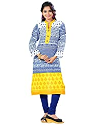 Arista Designer Ready To Wear White Kurti Size - 36 (KR98)