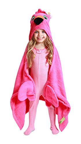 ZOOCCHINI Franny the Flamingo Hooded Towel - 1