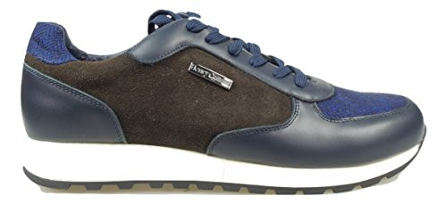 HENRY COTTONS BRON SNEAKERS UOMO [162.M.545 508 591] - 45, BLU/MARRONE