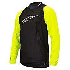 Alpinestars Drop Long Sleeve Jersey, Yellow Fluorescent/Black, Large
