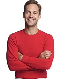 Hanes Men\'s X-temp Thermal Crew (X-Large, Red)