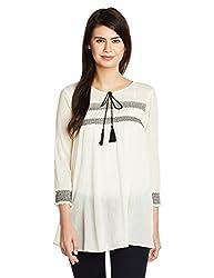People Women's Tunic Top (P10202362274167_Off-White_Medium)