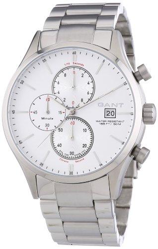 GANT  Vermont - Reloj de cuarzo para hombre, con correa de acero inoxidable, color plateado