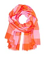 Marc by Marc Jacobs Fular Woven Stacey Check Naranja / Rosa