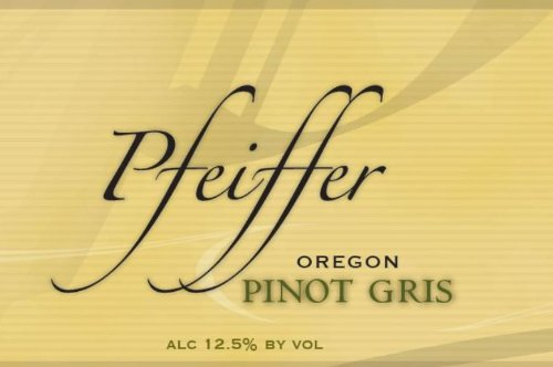 2011 Pfeiffer Winery Pinot Gris, Willamette Valley 750 Ml