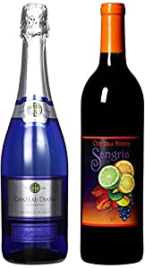 Craft Wine Her Sparkling & His Red Mixed Pack Non Vintage California Red Wine Blend & Itailian Sparkling Moscato 2 x 750 ml