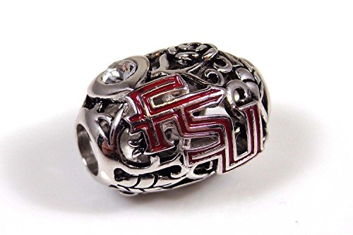 Florida State Organic Style Sterling Silver Bead Fits Most European Style Charm Bracelets