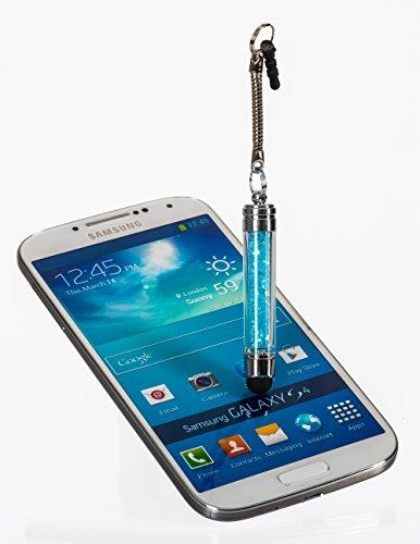 STYLUS PEN Touchscreen Smartphone Handy,Tablet PC Apple iPhone 6 5s 5 4s 4 Samsung Galaxy S6 S6edge S5 S2 S3 S4 S3 mini i8190 S4 mini S5830 S5830i S5360 Galaxy Note 3 Alcatel One Touch Pop C7 Sony Xperia Nokia Lumia 630 LG Google Nexus HTC Huawei/ iPad Air iPad mini 2 Samsung Galaxy Tab 4 2 Tab 3 lite 7.0 Tab 3 10.1 P5200 in Blau mit Stein