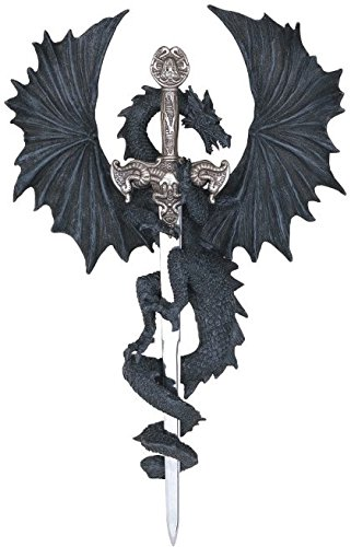 George S. Chen Imports SS-G-71221 Dragon Collection with Sword Collectible Fantasy Decoration Figurine