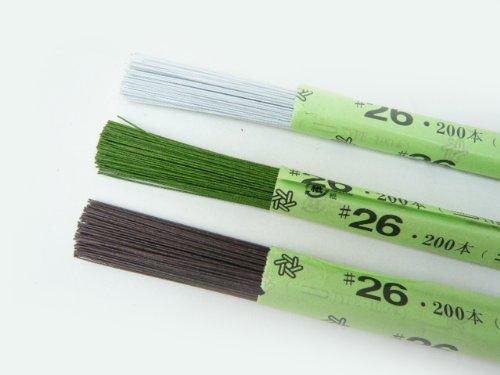 紙巻ワイヤー#26 36cm(200本)緑