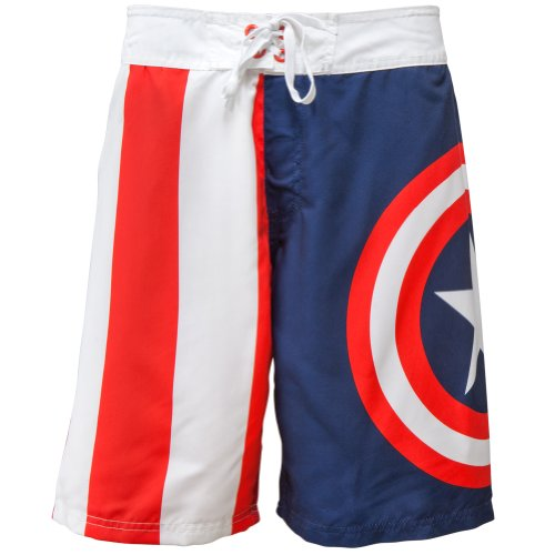 Captain America - Shield Logo Board Shorts