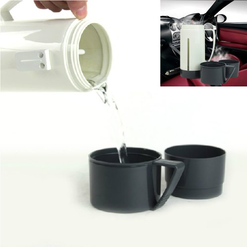 Estone New Portable Dc 12V Car Pot Hot Warm Water 100° Heater Boiling Cup Thermo Mug