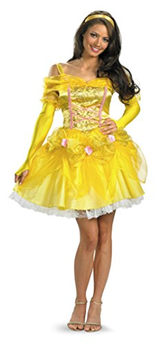 Disguise Womens Sassy Princess Belle Beauty And Beast Disney Halloween Costume