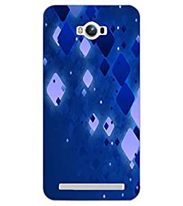 PrintDhaba SQUARE PATTERNS D-6429 Back Case Cover for ASUS ZENFONE MAX ZC550KL (Multi-Coloured)