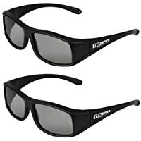 True Depth 3D® Circular Polarized Glasses for Passive Vizio 3D TVs (2 Pairs!) from True Depth 3D
