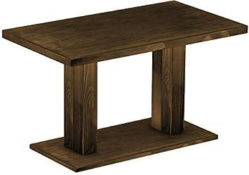 Brasil Mobili ristorante tavolo Rio Duo, in legno di pino massiccio, cerato e oliato Eiche antik Cognac, L/B/H: 140x 80x 78cm