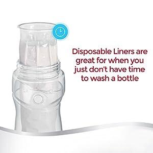 Playtex Drop-Ins BPA-Free Bottle Liners for Playtex Nurser Bottles - 4 Ounce - 100 Count