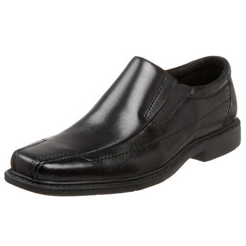 Clarks Men's Deane Slip-On Loafer, Black Leather, 8.5 M US
