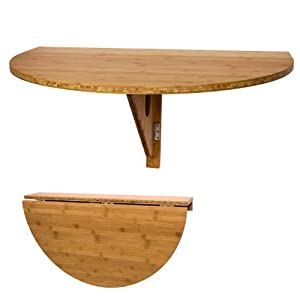 Sobuy fwt10 n table murale rabattable en bois table de - Table pliable en bois ...