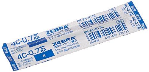 Zebra Recharge 4C-0.7 0.7mm (Encre bleue)