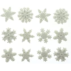 Jesse James Dress It Up Holiday Collection Embellishments, Glitter Snowflakes