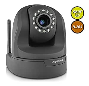 Foscam FI9826W (Black) 1.3 Megapixel (1280x960p) 3x Optical Zoom H.264 Pan/Tilt Wireless IP Camera