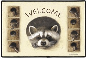 Raccoon Marjolein Bastein Wildlife Doormat Rug Mat Home Decor