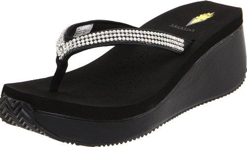 Volatile Women's Corrine Thong Sandal,Black,8 B US