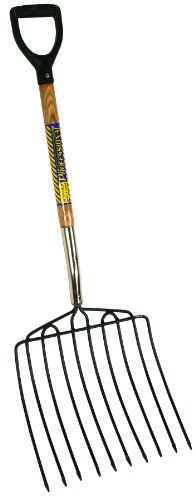 Seymour EF-20D 15-Inch by 15-Inch 10 Tine Welded Steel Ensilage fork with Hardwood Handle