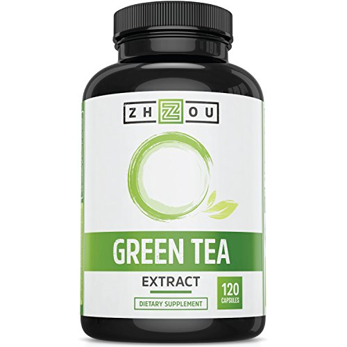 Green Tea Extract Supplement with EGCG for Weight Loss - Boost Metabolism & Promote a Healthy Heart - Natural Caffeine Source for Gentle Energy - Antioxidant & Free Radical Scavenger - 120 Capsules (Green Tea Extract Capsules compare prices)