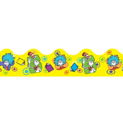 Eureka Dr. Seuss Yellow Extra Wide Cut Deco Trim