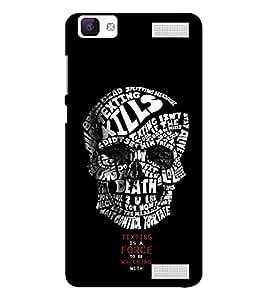 EPICCASE Skull quote Mobile Back Case Cover For Vivo V1 Max (Designer Case)