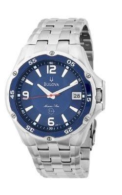 Bulova Men's 98B111 Marine Star Stainless Steel Bracelet Blue Dial Watch