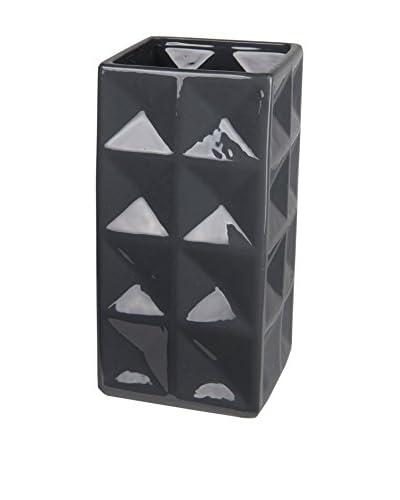 Privilege, Inc. Tall Ceramic Vase, Dark Grey