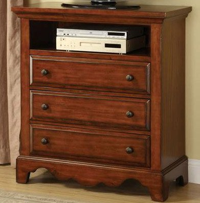 Media Chest In Cherry Oak Finish By Furniture Of America