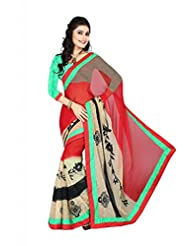 Astha Fashion Designer Embroidery Work Saree - B00RFMDSF0