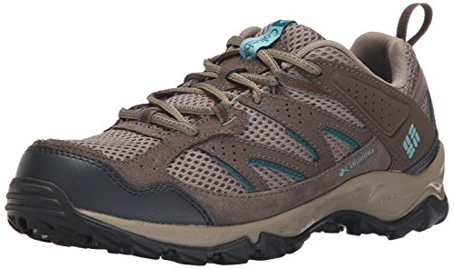Columbia Women's Plains Ridge Wmns Trail Shoe, Pebble/Aqua, 8 B US