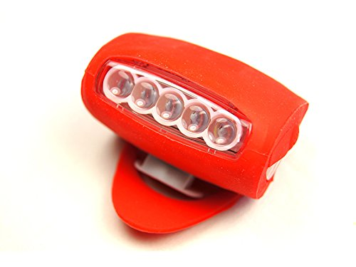 Eclairage Vélo 7 Led Silicone Rouge