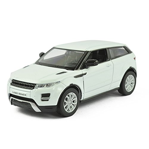UNI-FORTUNE 5inch Range Rover Land Rover Evoque Diecast Model Car 1/36 Pull Back Toy For Kids Gift White (White Range Rover compare prices)
