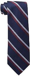 Tommy Hilfiger Men\'s Grenadine Rep Stripe Tie, Navy, One Size