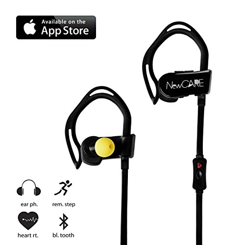 newcare bluetooth 4 0 noise cancelling sport headphones wireless earphones with heart rate. Black Bedroom Furniture Sets. Home Design Ideas