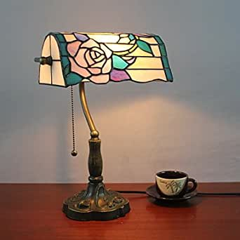 Tiffany lampade da tavolo in vetro con rose viola ombra modello illuminazione - Amazon lampade da tavolo ...