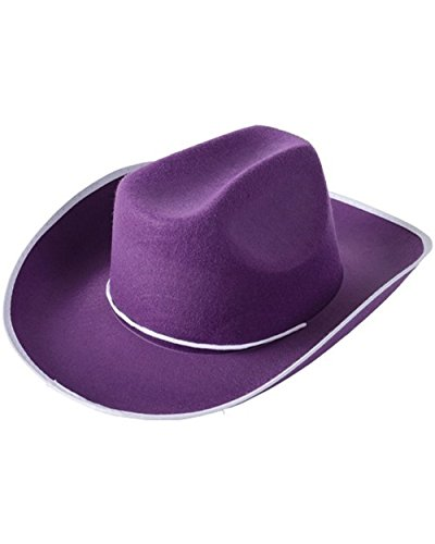 One Adult Purple Cowboy Hat - 1