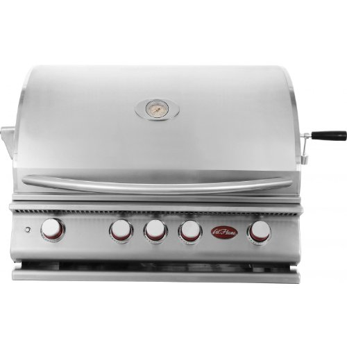 Cal Flame P4 4 Burner Built-in Natural Gas Grill (ships As Propane With Conversion Fittings)