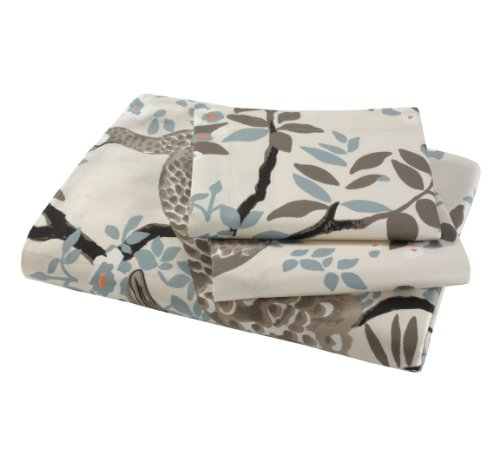 DwellStudio Peacock Full/Queen Duvet Set, Dove