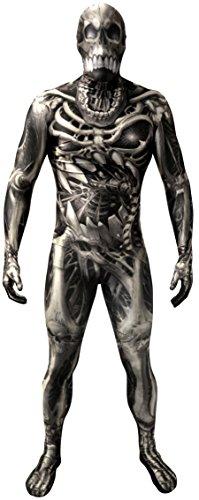 Morphsuits - Tuta intera per travestimento da scheletro, taglia: XXL