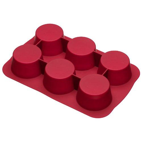 bækka Moule à 6 Muffins - rouge