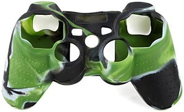 ZCLProtective Dual-Color Style Silicone Case for PS3 Controller Green and Black